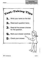 test taking skills worksheets phoenixpayday com
