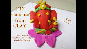 how to make ganesha ganpati idol from clay dough clay craft for
