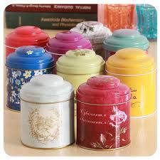Decorative Tea Tin Containers