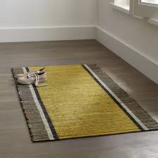 Crate And Barrel Bath Rugs Quentin Yellow Cotton Rug Crate And Barrel