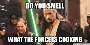 The Rock Meme - rock jedi
