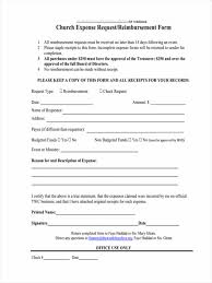 7 request reimbursement forms samples free sample example expense