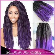 ombre marley hair 2018 two tone marley hair black purple kinky twist ombre kanekalon