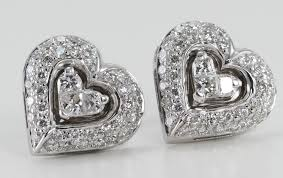 heart shaped diamond earrings caratsdirect2u s new diamond earrings range