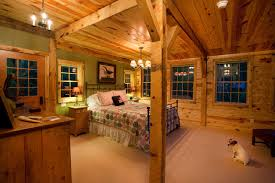 cabin themed bedroom montana lodge themed barn home traditional bedroom other