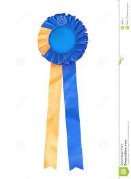 blue and yellow ribbon blue and yellow ribbon rosette stock image image of place single