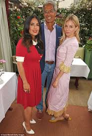 sienna miller and salma hayek support aids charity daily mail online