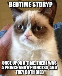 Bedtime Meme - bedtime story grumpy cat meme on memegen