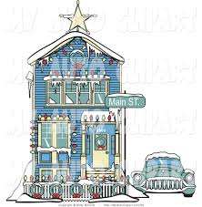 christmas house decorations clip art 34