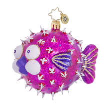 christopher radko ornaments always puff a fish 3013338
