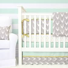 Baby Deer Crib Bedding Woodlands Deer Baby Bedding Mint Crib Set Caden