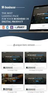 m business one page corporate and business template by themehappy