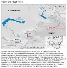China Rivers Map by Sharing Rivers China U0026 Kazakhstan China Water Risk