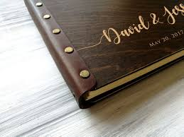 engraved wedding album wedding photo album wood photo album personalized photo album