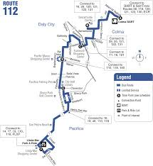 Vta Map 112 Bus Schedule Samtrans Sf Bay Transit