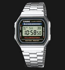Jam Tangan Casio Chrono beli jam tangan casio retro a168wa 1wdf stainless steel alaram