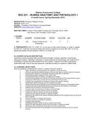 bio 231 human anatomy and physiology i