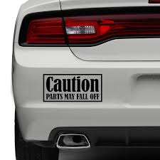 jdm sticker on car caution parts may fall off car sticker funny bumper jdm sticker