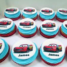 custom edible images cars themed cupcakes three sweeties