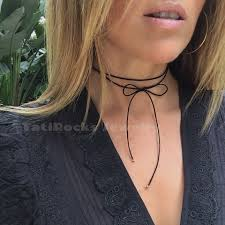 fashion bow necklace images Pretty bow tie necklace choker black choker bow necklace jpg