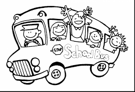 astounding bus coloring page with magic bus coloring