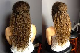 half up half down naturally curly hairstyles half up half down
