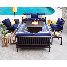Allen And Roth Outdoor Furniture by Shop Allen Roth Gatewood 6 Piece Conversation Set At Lowe U0027s