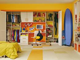 Bedroom Wall Closet Designs Interior Adorable Small Walk In Closet Design Using Orange Closet