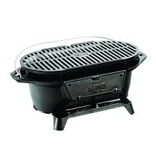 Backyard Hibachi Grill Lodge L410 Hibachi Style Cast Iron Sportsmans Grill