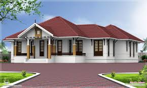 single floor 4 bedroom home with courtyard kerala home design