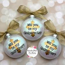 will you be my godmother ornament godmother