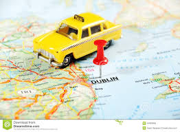Dublin Ireland Map Dublin Ireland United Kingdom Map Taxi Car Stock Image Image