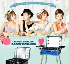 Vanity Case Beauty Studio Makeup Vanity Case Beauty Case Trolley Led Light Case Buy Led