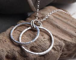 silver rings necklace images Silver ring necklace etsy jpg
