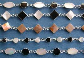 onyx pearl bracelet images Wholesale mother of pearl bracelet gemstone jewelry with black onyx jpg