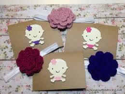 handmade headbands newborn baby girl gift baby shower gift baby headbands and cards