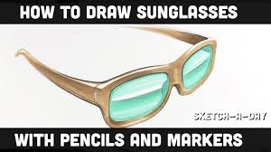 how to draw sunglasses shades youtube