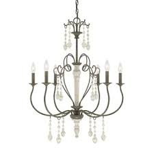 French Wire Chandelier Austin Allen U0026 Company Zoe Collection 6 Light French Antique