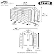 Lifetime 60012 Extra Large Deck Box Instructions by Lifetime Storage Sheds 60075 Plastic Storage Shed 8 X 15