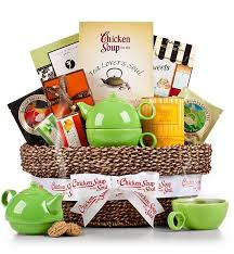 soup gift baskets traditional tea time basket with chicken soup for the tea