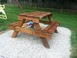 wood folding garden picnic table and bench 2 in 1 plans garden