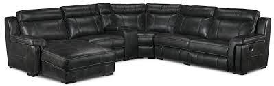 left facing chaise sectional sofa bolero 6 piece reclining sectional with left facing chaise grey