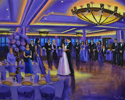 wedding gift nyc marina live event painting nyc unique wedding gift
