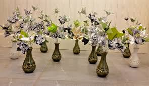 Walmart Wedding Flowers - mini centerpieces cocktail hour tables weddingbee photo gallery