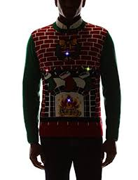 sweater s fireplace is lit light up sweater