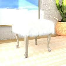 Fuzzy White Ottoman White Fur Ottoman Ottoman Ottoman White Fur Pouf
