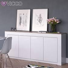 Wohnzimmerschrank Zu Verkaufen Vicco Sideboard Roma 190 Cm Weiß Hochglanz Kommode Anrichte