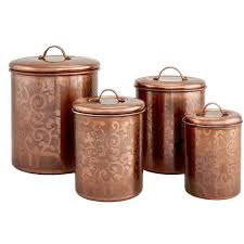 copper kitchen canister sets avignon 4 etched kitchen canister set kitchen canister sets