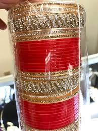 indian wedding chura bridal wedding chura bangles set rhinestones golden wedding