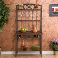 furniture french bakers rack corner bakers rack with wine